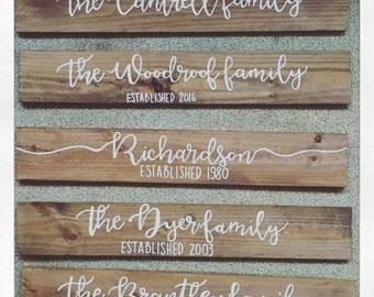 24x6 Family Name Framed Wooden Sign