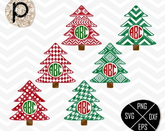 Christmas Tree Monogram Frame SVG*Christmas Tree SVG Cut File*Christmas Tree SVG,clipart,eps,dxf,png*Cutting File*Cricut*Silhouette*Sure Cut