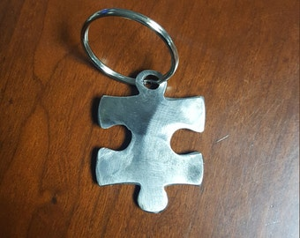 Novelty Autism Awareness Puzzle Piece Keychain