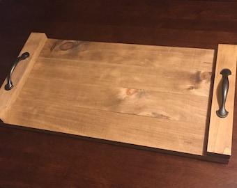 Wood Serving Tray / Serving Tray / Dinner Tray / Wood Display Tray / Serving Platter / Wooden Dinner Platter / Custom Wedding Gift