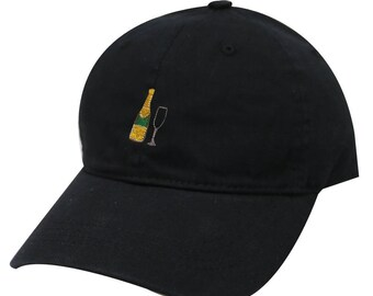 Capsule Design Champagne Cotton Baseball Cap Black