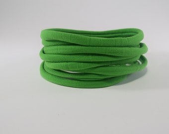 nylon headbands, green nylon headbands,nylon bands,one size fits most headbands,nylon bands, wholesale nylon headbands, stretchy elastic