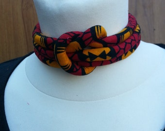 Ankara print choker -Tribal Necklace - Statement Necklace - African Jewelry - African Print Necklace