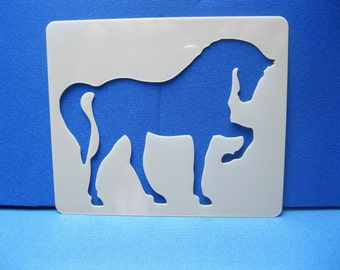 Laser Cut Reusable Washable Mylar 190 Micron Horse Equestrian Showjumping Stencil 12cm x 10cm