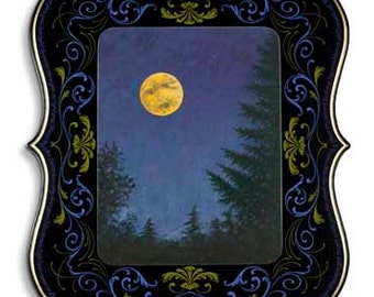 Moon Maiden - Poster - Sign painting, fileteado, landscape, Duke Ellington