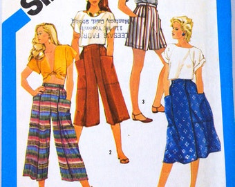 Simplicity 6417   Free Shipping   Miss Vintage Skirt , Pants, Shorts  Size 16 to 20   Uncut