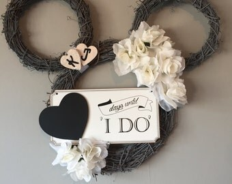 Disney Wedding Wreath