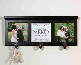 Personalized Wedding Photo Coat Rack Custom Name Gift