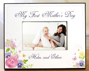 Personalized My First Mothers Day Printed Frame Custom Name Gift