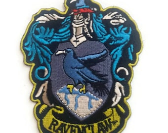 Harry Potter Raven Claw Embroidered Patch, Size 3.5 X 3