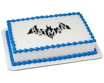 Batman Logo Edible Cake Topper