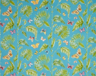 Butterfly Palm Turquoise from Dena Designs Butterfly Garden Fabric by the Yard