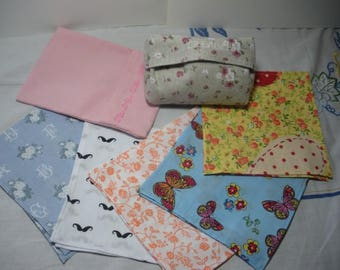 Kit tissues whiskers, cotton printed, washable