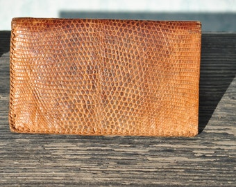 Wallet, leather wallet, snakeskin wallet, snakeskin leather wallet, mens wallet, wallet for men, men snakeskin wallet, brown leather wallet,