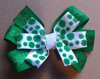 St. Patrick's Day Pinwheel Bow