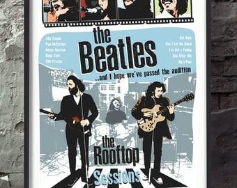 The Beatles famous rooftop concert poster wall decor art print unframed