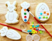 Easter cookies/custom cookies/sugar cookies/ paint your own/easter bunny/easter basket/easter decorations/bunny/chocolate/pyo cookie/