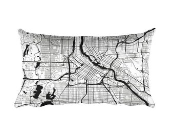 Minneapolis Pillow, Minneapolis Decor, Minneapolis Throw Pillow, Minneapolis Gift, Minneapolis Map, Minneapolis Art, Minneapolis MN, Throw