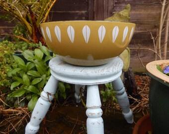 1960s Design, Catherine Holm Lotus Leaf Avacardo Enamel Bowl, Norway, Green Bowl, Retro Enamel, Vintage Designer