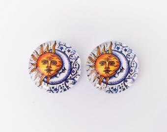 The 'Folk Festival' Glass Earring Studs