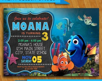 Finding Nemo Invitations, Finding Dory Invitation Finding Nemo Invitation, Finding Dory Birthday Party