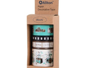 Photograph Washi Tape with Dispenser 5m 4/Pkg - Allton