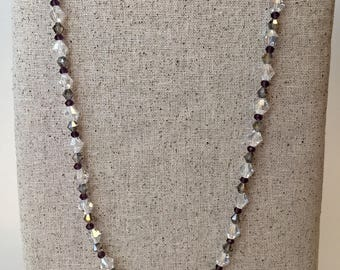 Smokey bicone beaded necklace