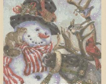 Christmas Snowman and Reindeer #4-362