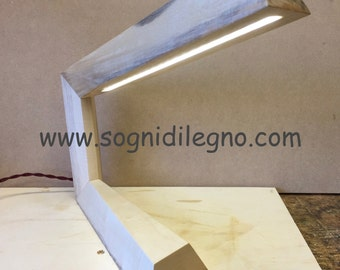 Led lamp for the desk or wooden table