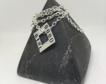 Good girl, good girl Necklace, ddlg, daddys girl, ddlg girl, BDSM necklace, BabyGirl necklace, my girl, owned, fifty shades of grey