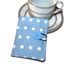 Stars Tea Wallet / Travel Tea wallet / Tea Organizer / Teabag wallet / Tea Bag Holder / Blue Tea Carrier / gift for her