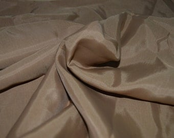 "Golden Brown/Tan Lining Fabric 44 "" Wide"