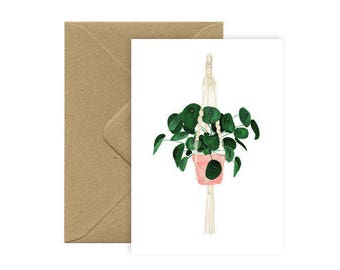 Card A6 - Cell & macrame