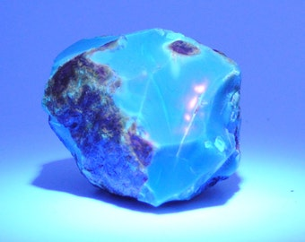 Amber raw blue natural - 60x45mm - 64gm