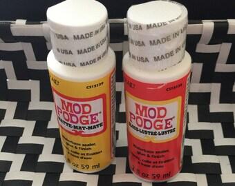 Mod Podge Gloss Lustre  2 ounce 2 oz Mod Podge Matte New Sealed Bottle