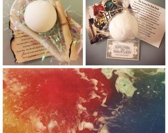 Large Sorting Hat Bath Bomb Harry Potter Inspired    Changes Bath Water to Hogwarts House Colors   Peppermint Scented