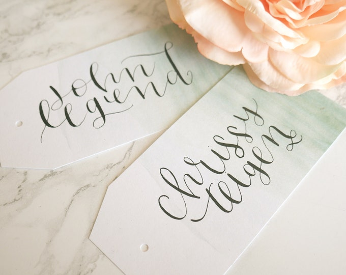 Custom Calligraphy for Place Cards