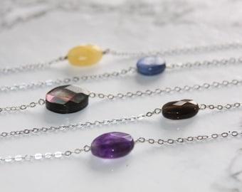 Bracelet silver chain 925 kyanite / silver /pierre bracelet natural / fine gemstone jewelry