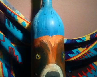 Pittbull on Wine Bottle