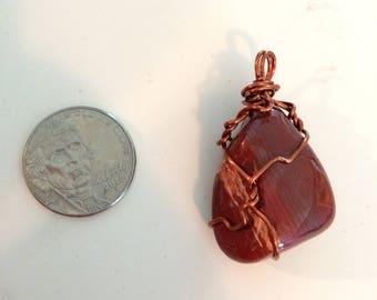 Jasper Copper Wrapped Pendant