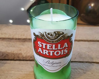 Recycled Stella Bottle Soya Candle