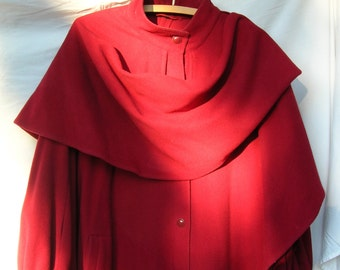 Red Loden Wool Coat