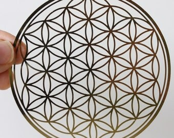 flower of life decal, flower of life sticker, 3.46inches(88mm)