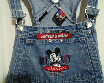 Vintage Mickey mouse overalls from the 90s sz: 40 waist 30 length