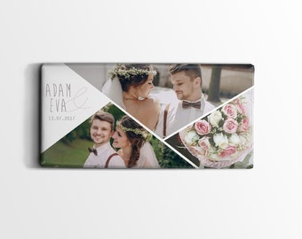 Free designable individual wedding chocolate as a gift or thank you card, or make leave, 100 g milk tablets