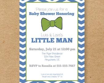 Bow Tie Baby Shower Invite