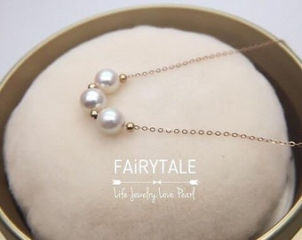 18K Rose Gold Akoya Pearl Necklace