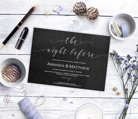 Rehearsal Dinner Invitation Template  - Rehearsal Dinner Template - Printable Rehearsal Dinner Invitation   -  Downloadable wedding #WDH0155