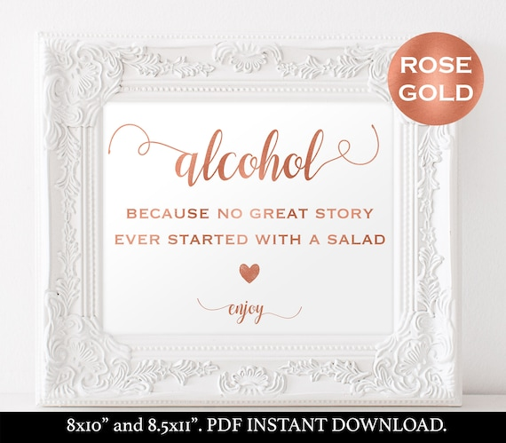 Alcohol sign wedding template