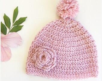 MADE TO ORDER - Crochet Beanie newborn baby toddler children's child's kids